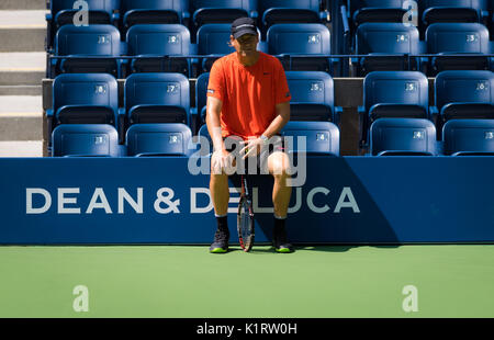 New York City, United States. 27 August, 2017. Sven Groeneveld  at the 2017 US Open Grand Slam tennis tournament - Stock Photo