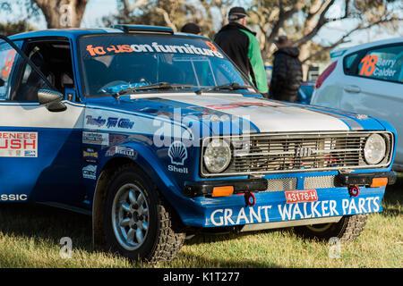 Avoca, Australia. 27th Aug, 2017. MELBOURNE, AUSTRALIA – AUGUST 27: Car 9 during the 2017 Victorian Rally Championship, - Stock Photo