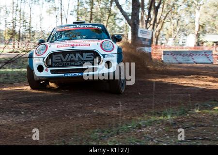 Avoca, Australia. 27th Aug, 2017. MELBOURNE, AUSTRALIA – JUNE 11: during the 2017 Victorian Rally Championship, - Stock Photo