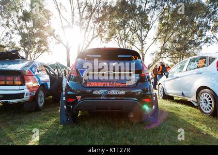 Avoca, Australia. 27th Aug, 2017. MELBOURNE, AUSTRALIA – AUGUST 27: Car 17 during the 2017 Victorian Rally Championship, - Stock Photo