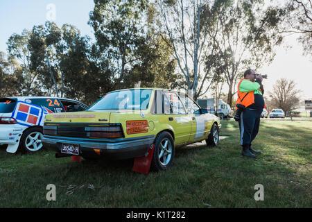 Avoca, Australia. 27th Aug, 2017. MELBOURNE, AUSTRALIA – AUGUST 27: Car 22 during the 2017 Victorian Rally Championship, - Stock Photo