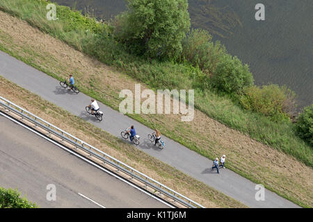 cycle track near Cochem, Moselle, Rhineland-Palatinate, Germany - Stock Photo