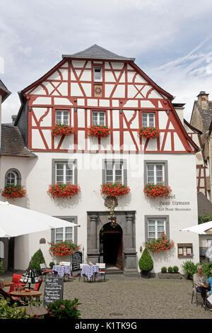 Fachwerkhaus, Beilstein, Mosel, Rheinland-Pfalz, Deutschland   frame house, Beilstein, Moselle, Rhineland-Palatinate, - Stock Photo