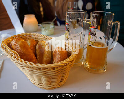 Bread and beer - Stock Photo