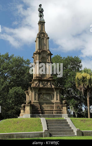 The large, ornate memorial to soldiers who fought for the Confederacy is one of the more prominent landmarks located - Stock Photo