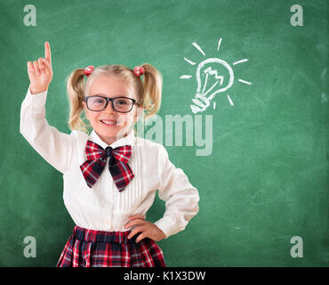 Little Student With Idea In Classroom - Stock Photo