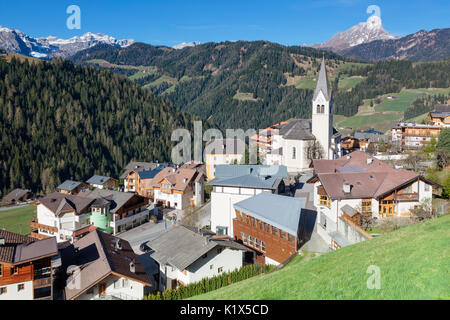 Europe, Italy, South Tyrol, Bolzano province, the village of La Valle - Wengen in Badia valley - Stock Photo