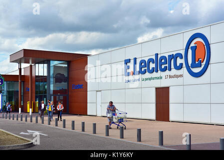 Branch of French supermarket chain E.Leclerc - Stock Photo