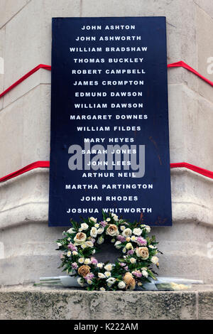 Peterloo Memorial. - Stock Photo