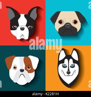 purebred dogs design  - Stock Photo