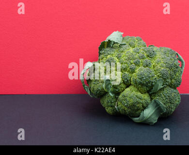 Cauliflower background cauliflower bright color on the store counter sale cauliflower view from above. - Stock Photo