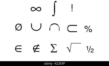 Those are some symbols used in mathematics. - Stock Photo