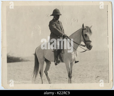 Title  Colonel Theodore Roosevelt on Horseback in Egypt - Stock Photo