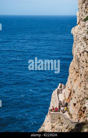 The Neptune's Grotto in Capo Caccia, near the city of Alghero, Sardinia, Italy Photo: Alessandro Bosio - Stock Photo