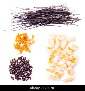 four different kinds of pasta - Stock Photo