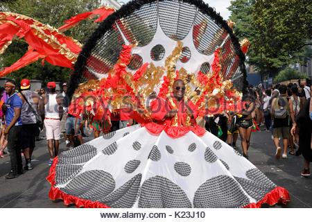 London, UK. 28th Aug, 2017. Notting Hill Carnival. Credit: Alan Ball/Alamy Live News Credit: Alan Ball/Alamy Live - Stock Photo