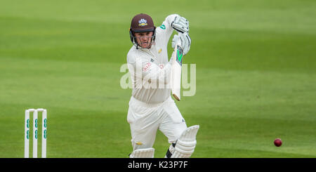 London, UK. 29th Aug, 2017. Jason Roy batting for Surrey against Middlesex at the Oval on day two of the Specsaver - Stock Photo