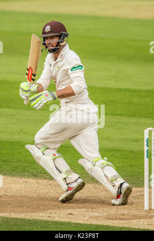 London, UK. 29th Aug, 2017. Ben Foakes batting for Surrey against Middlesex at the Oval on day two of the Specsaver - Stock Photo