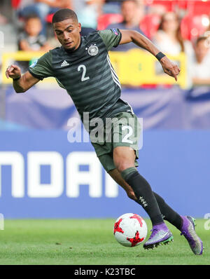 Tychy, Poland. 27th June, 2017. ARCHIVE - Germany's Jeremy Toljan in action during the U-21 men's soccer quarterfinal - Stock Photo