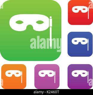 Carnival mask set collection - Stock Photo