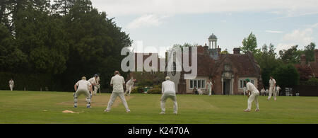 Village cricket at Benenden, Kent - Stock Photo