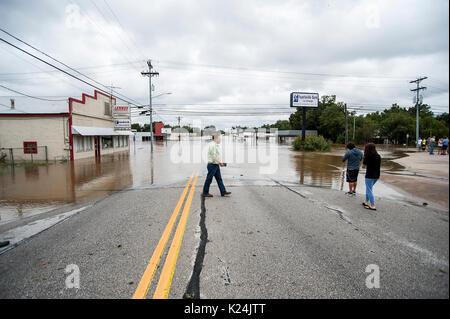 Corpus Christi, Texas, USA. 28th Aug, 2017. Hurricane Harvey made landfall late Friday just north of Corpus Christi - Stock Photo
