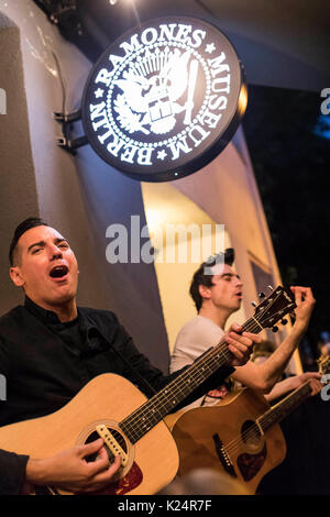 Berlin, Germany. 28th Aug, 2017. Chris #2 and Justin Sane of Anti-Flag perform live on stage during the 'American - Stock Photo