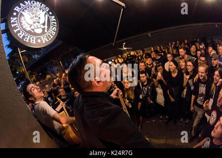 Berlin, Germany. 28th Aug, 2017. Justin Sane and Chris #2 of Anti-Flag perform live on stage during the 'American - Stock Photo
