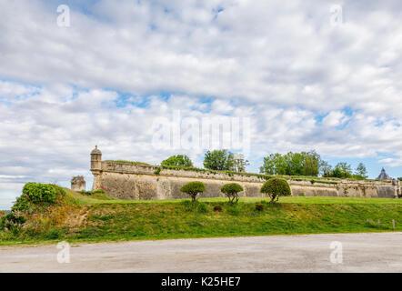 Walls Of Citadel Blaye Citadelle De Vauban In A Commune And