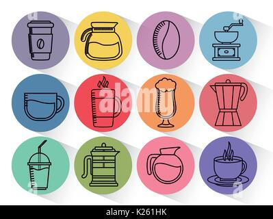 Doral Designs Coffee Maker With Grinder And Timer : Coffee maker or grinder, french press, measuring capacity, Chinese Stock Vector Art ...