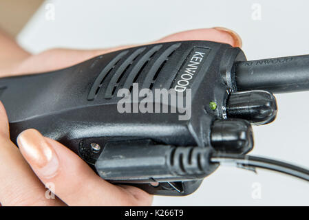 Walkie Talkies used for communication at a car dealership - Stock Photo