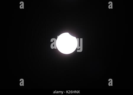 Solar Eclipse at Stapleton, Nebraska - Stock Photo