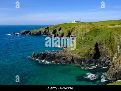 Lizard Lighthouse, Lizard Point, Lizard Peninsula, Cornwall, England ...