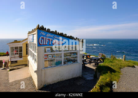 The Most Southerly Gift Shop, Lizard Point, Lizard Peninsula, Cornwall, England, United Kingdom - Stock Photo