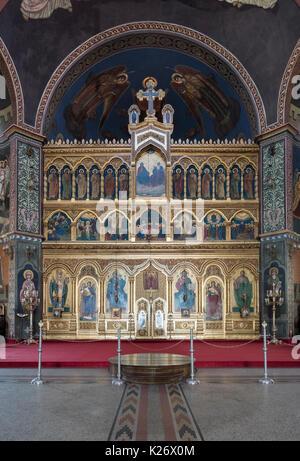 Interior of Sibiu Orthodox Cathedral, Romania - Stock Photo