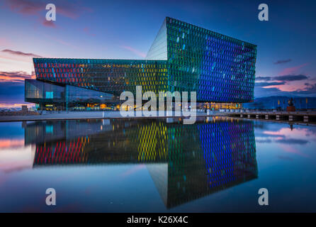 Harpa is a concert hall and conference centre in Reykjavík, Iceland. The opening concert was held on May 4, 2011. - Stock Photo