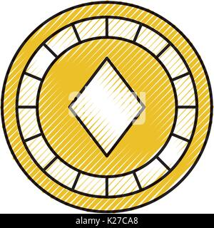 casino chips with diamond - Stock Photo