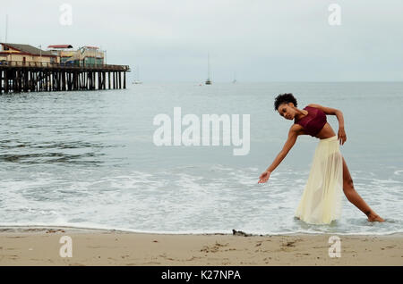 Lyrical dancer in water - Stock Photo