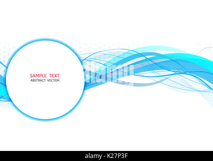 Blue wave abstract vector, Graphic design - Stock Photo