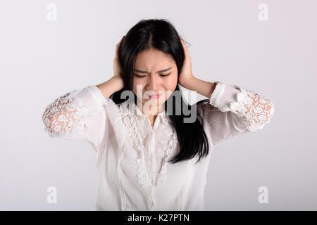 A sad young woman - Stock Photo