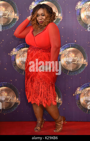 Chizzy Akudolu at the launch of Strictly Come Dancing 2017 at Broadcasting House in London. PRESS ASSOCIATION Photo. - Stock Photo