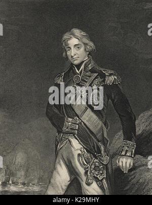 Vice Admiral Horatio Nelson circa 1801 - Stock Photo