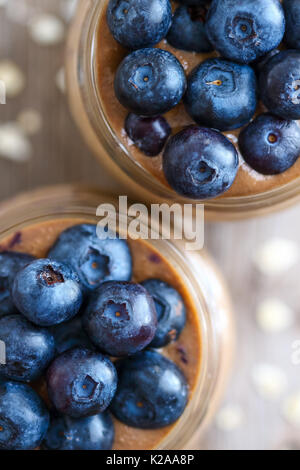 Coffee Smoothie with Blueberries - Stock Photo