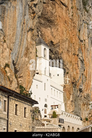 View on Ostrog ortodox Monastery, Montenegro, Balkans, landmark - Stock Photo