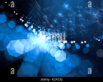 Blurred fractal background - abstract digitally generated image - Stock Photo