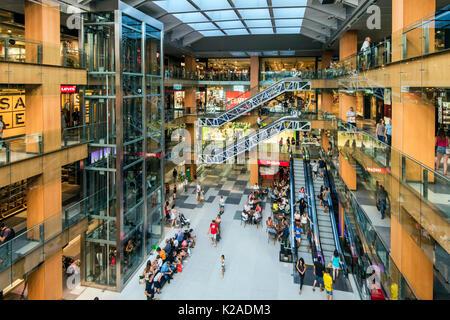 Illa Carlemany shopping mall, Andorra La Vella, Andorra - Stock Photo
