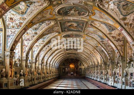 The Renaissance style Antiquarium Hall, Residenz former royal palace, Munich, Bavaria, Germany - Stock Photo