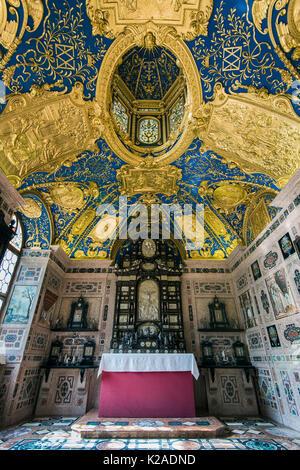 Chapel room inside the Residenz former royal palace, Munich, Bavaria, Germany - Stock Photo