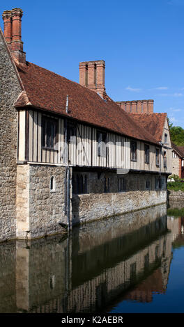 Ightham Mote, Ightham, Kent is a medieval moated manor house. The architectural writer John Newman describes it - Stock Photo