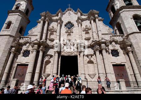 Catedral de la Habana (Cathedral of Havana) in Havana Cuba - Stock Photo